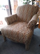Tan Brown Geometric Upholstered Chair in Naperville, Illinois