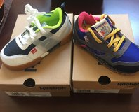 New, never worn Reebok CL Leather Ripple MU Infant (Grey/blue/pink/gold) in Camp Pendleton, California