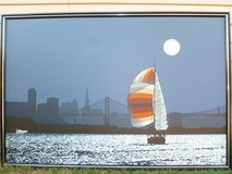 "Oil Painting, original, ""The Sail at California Bay at Full Moon"" in West Orange, New Jersey"