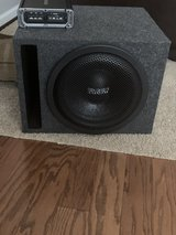 Sundown 12 inch Sub in box with kicker amp in Quantico, Virginia