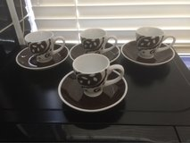 Espresso Coffee cups and 2 matching Mugs in Lakenheath, UK