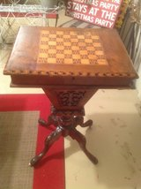 Antique Traveling Game Table in Bartlett, Illinois