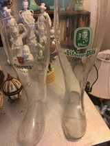 Pair of Glass Beer boots 1Land 2 L from Germany in Fairfield, California