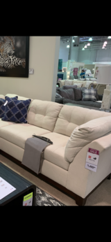 2 newer linen material& colored couches from VCF in Aurora, Illinois