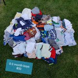 HUGE 0-3 months baby boy clothes lot in Naperville, Illinois