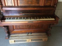 Antique piano in Ramstein, Germany