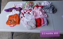 0-3 month baby girl clothes lot in Naperville, Illinois