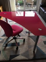 Child's desk and chair in Lakenheath, UK