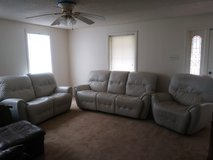 white leather furniture set in Camp Lejeune, North Carolina