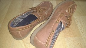 """Boys casual """"deck"""" shoes, size 3, Tommy Hilfiger in Naperville, Illinois"""