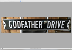 Godfather Drive Novelty Street Sign in Yucca Valley, California