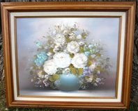 Framed Art - Oil Painting on Canvas ~ Flowers in Vase in Joliet, Illinois
