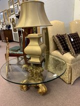 Antiquish, gold base feet, 50 plus pounds glass top in Fort Knox, Kentucky