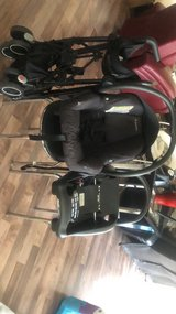 Frame, car seat, and stroller set in Ramstein, Germany