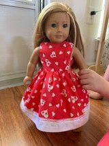 14inch doll dress Red with hearts in Warner Robins, Georgia