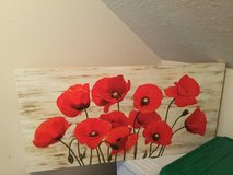 Red Poppy canvas art. (Price reduction) in Baytown, Texas