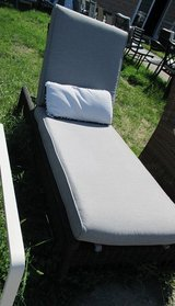 Outdoor Chaise Lounge, with Faux Rattan Base in Westmont, Illinois