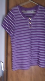 denim & co. purple polo size large in Alamogordo, New Mexico