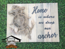"""""""Home is where we drop our anchor"""" 3d carving/ wall Decor in Camp Lejeune, North Carolina"""