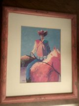 Cowboy artwork in Alamogordo, New Mexico