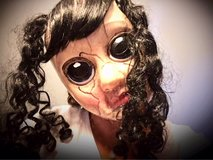 Creepy doll Halloween mask in Joliet, Illinois