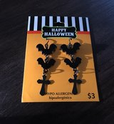 Halloween pierced bat earrings in Joliet, Illinois