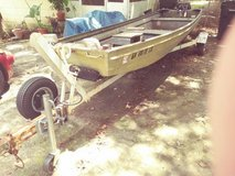 14ft. Jon Boat, Trailer and 9 1/2 HP Johnson Motor in Warner Robins, Georgia