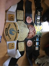 WWE belts in Lakenheath, UK