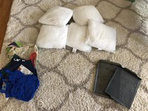 Pillows, shopping bags, pans in Joliet, Illinois