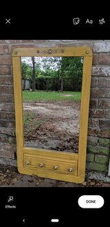 Antique Yellow Mirror with Knobs in Conroe, Texas