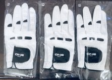 3 Pcs brand new golf gloves men's left hand size 24 in Oswego, Illinois