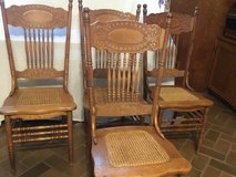 Antique Larkin OAK pressed back chairs 4 in Conroe, Texas