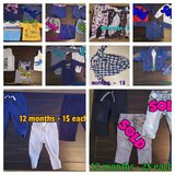 Baby boy 9 to 12 months lot - 25 pieces in Converse, Texas