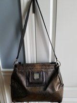 Large Miche Brown Snakeskin pattern and texture with liner and shoulder straps in Aurora, Illinois