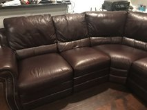 Leather sectional with recliners in Conroe, Texas