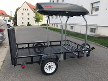 Utility Trailer - 5x7ft - able to hold car top carrier (not included) - SOFA holders only in Stuttgart, GE