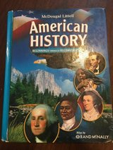 Middle School American History Textbook in Cherry Point, North Carolina