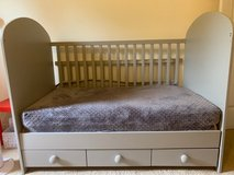 baby to toddler crib in grey in Naperville, Illinois