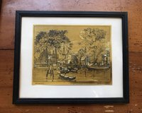 Gold Foil Etch Print by Lionel Barrymore in Spring, Texas