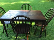 Kona Brown SolidWood Dinner Table and Bar Chairs in Camp Lejeune, North Carolina