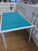 Ikea Outdoor Table with Handmade Wooden Table Top in Okinawa, Japan