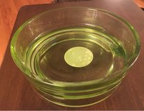 Green Glass Pet Bowl in Chicago, Illinois