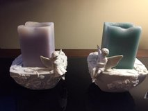 Party Lite Ceramic Enchanted Fairy Boy and Girl Candle Holders in Chicago, Illinois