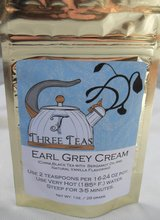 NEW Earl Grey Cream Three Teas Private Label China Black Tea with Natural; Vanilla Foil Resealab... in Kingwood, Texas