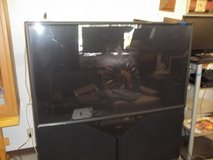 """60"""" Old School Television in Fort Riley, Kansas"""