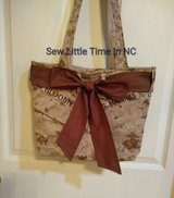 USMC MARPAT Desert or Woodland Tote Bag with Bow in Cherry Point, North Carolina