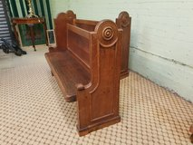 Pair of Oak Church Pews in Great Lakes, Illinois