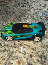Hot Wheel Car - push button/ turns bright blue and takes off. in Plainfield, Illinois