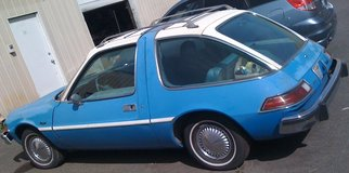 '76 AMC Pacer blue & white, 6 cyl, rebuilt AT, AC, bench seats, runs & drives gr8 in Fort Lewis, Washington