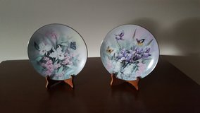 Butterflies in Flowers Collection Plates for Knowles China Company in Joliet, Illinois